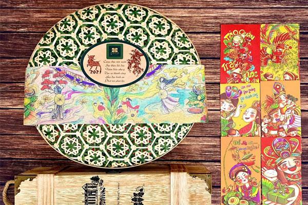 hộp quà tết đà nẵng mang phong cách thiết kế xưa